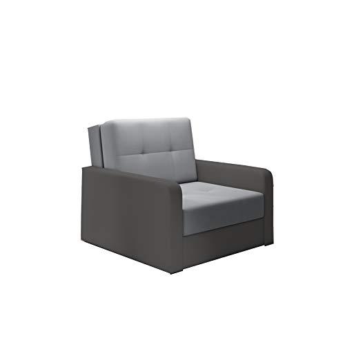 mb-moebel kleines Sofa mit Schlaffunktion und Bettkasten Schlafsessel Gästebett Jugendsessel Couch Bettsofa ERIK01 (Bahama 31 + Bahama 35)