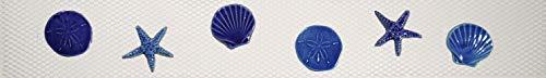 Artistry in Mosaics Shells Step Markers Ceramic Swimming Pool Mosaic (3' x 24', Blue)