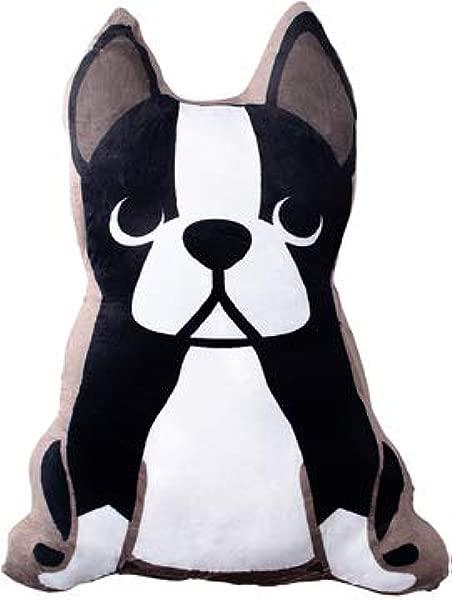 波士顿梗枕头大号 12 英寸装饰毛绒抱枕毛绒动物狗狗情侣女装饰