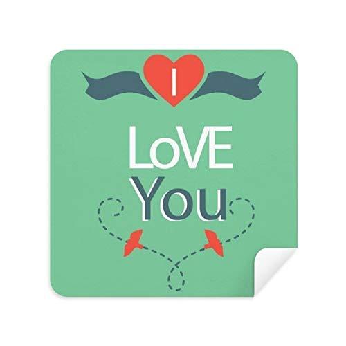 Green I Love You - Gafas de limpieza para limpiar la pantalla del teléfono, gamuza, 2 unidades