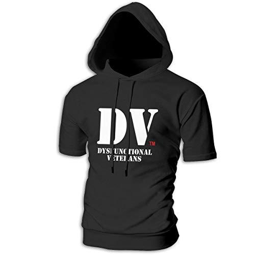 WQTYIUIO Dysfunctional Veterans.1 Mens Slim Fit Hoodie Casual Hooded T-Shirt Black