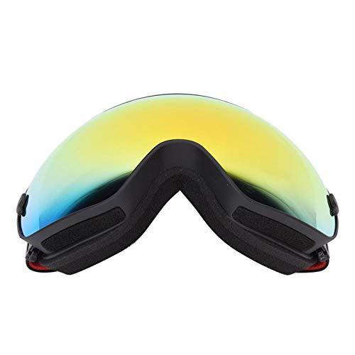 DAUERHAFT Gafas Protectoras Protectoras para Esquiar(Black Frame + Full Vacuum Red Plating)