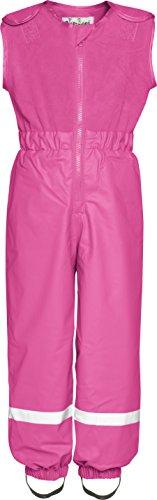 Playshoes Regenanzug für Kinder, Regen-Overall Fleece Latz,Rosa (18 Rosa ),98
