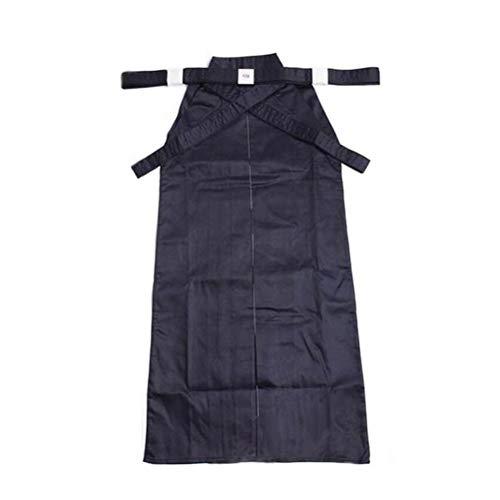 BESPORTBLE 180cm Hochwertige Baumwolle Kendo Aikido Hapkido Hakama Kampfsportuniform Sportbekleidung (Schwarz)