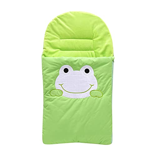 MH-RING Manta de Cochecito de Bebé, Saco de Dormir Bebé Recien Nacido Invierno Algodón Forrado Transpirable Súper Suave Cálido Saco Dormir