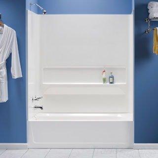 Mustee 660WHT Fiberglass Bathtub Wall Surround, White