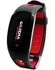 Go-Tcha Evolve LED-Touch polsband horloge voor Pokemon Go met Auto Catch and Spin - zwart / rood