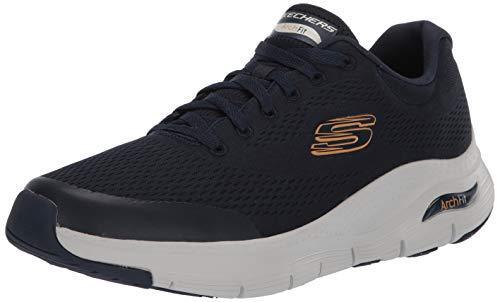 Skechers Arch Fit, Zapatillas Hombre, Azul (Navy Textile/Synthetic/Trim Nvy), 45 EU