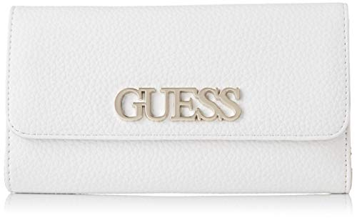 Guess Uptown Chic SLG Pocket Trifold, Small Leather Goods para Mujer, Negro, Talla única