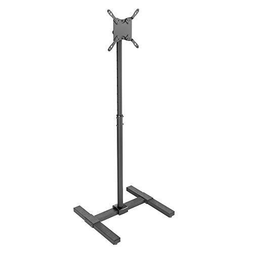 RICOO TV Ständer Neigbar (FS0522) Teleskopisch für 13-42 Zoll (33-107cm) Stand-Fuss Flachbild-Fernseher Halterung Teleskop VESA 75x75-200x200, Schwarz