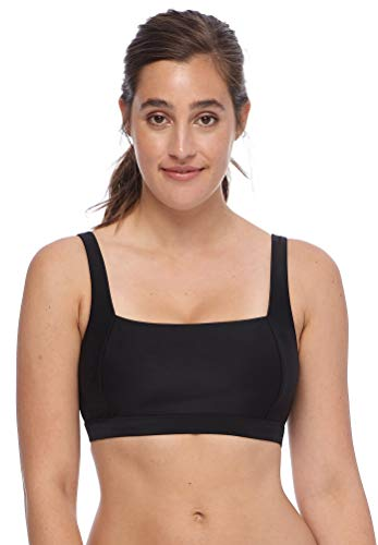 Body Glove Women's Alison Solid D, DD Cup Bikini Top Swimsuit, Smoothie Black, Medium
