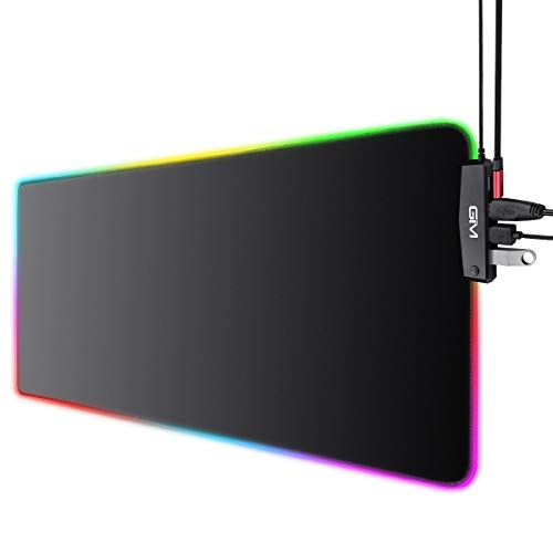 rgb gaming mouse pad with 4 usb port