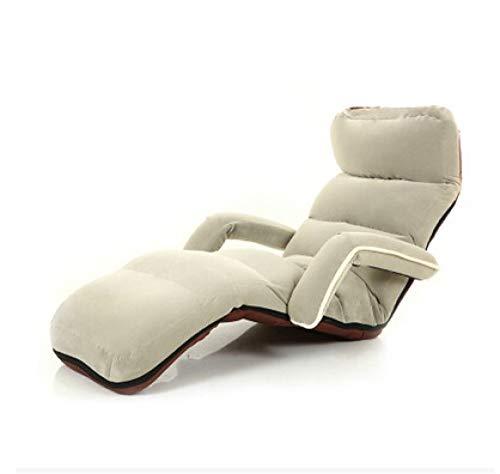 Stoel LKU Fauteuil, slaapkamer verstelbaar, opvouwbaar, zachte suède fauteuil, 6 kleuren, bank en fauteuil, grijze kleur