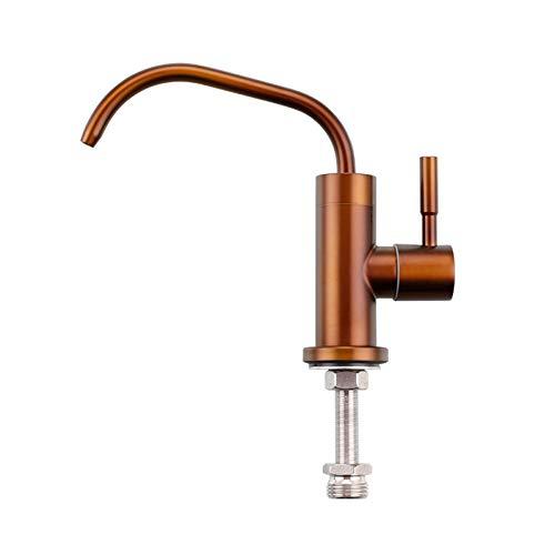 Grifo de filtro de agua de cocina de acero inoxidable 1/4 `` 1/2 '' conectar manguera filtros de ósmosis inversa piezas purificador grifo de bebida directa
