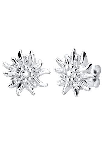 Elli Ohrringe Damen Ohrstecker Edelweiss in 925 Sterling Silber