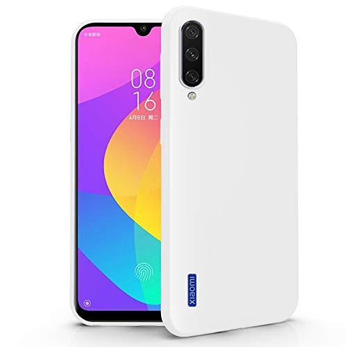 N NEWTOP Cover Compatibile per Xiaomi Mi A3 Lite - 9 Lite, Custodia TPU Soft Gel Silicone Ultra Slim Sottile Flessibile Case Posteriore Protettiva (Bianco)
