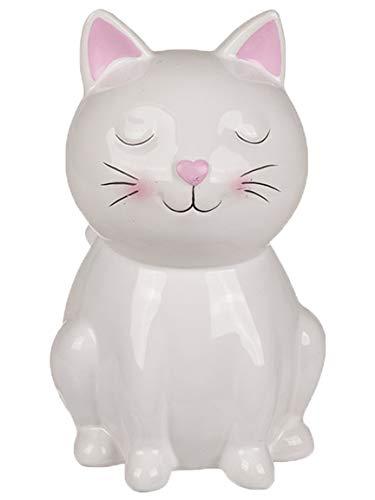 Bada Bing Spardose Katze Kätzchen Für Liebhaber Ca. 15,5 cm Weiß Sparschwein Mit Schlüssel Zuckersüß Geschenk Trend 47 (Spardose Katze Weiß)