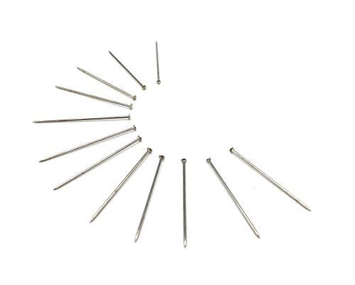 Over 3,000 Prym #17 Steel Extra Fine Satin Pins 1/2 Pound Premium Nickel Plated Steel 1 1/16 Inch