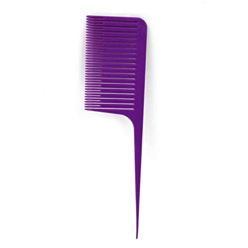 LEIXNDPLBO Dyeing Comb Weave Comb Tail Pro-hair Dyeing Comb Weaving Cutting Combs Hair Brush for Hairdressing,Purple