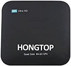 HONGTOP Android TV Box, Amlogic S905x Android 7.1 TV Box Quad Core CPU 2GB RAM 16GB ROM 64 Bits and Supporting 4K (60 Hz) Full HD/H.265/Wi-Fi 2.4 GHz