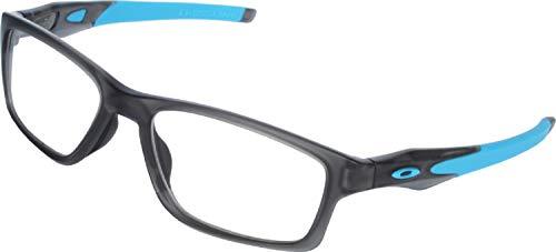 Oakley Crosslink 0.75mm Pb Leaded X-Ray Safety Radiation Protection Glasses (Satin Grey Smoke w/Blue Temples)   AR Anti-Reflective Fog Free Lens Coating