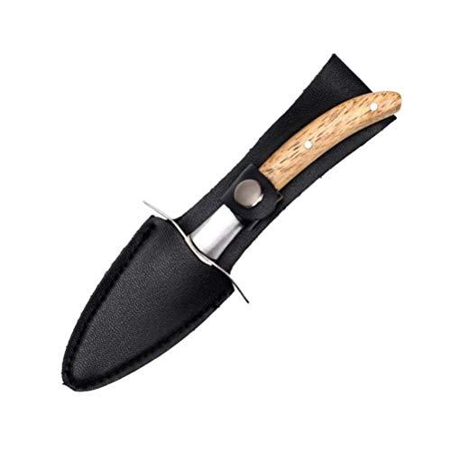 YARNOW Cuchillo Descortezador de Ostras Cuchillo de Ostras de Almeja Shucker Mango...