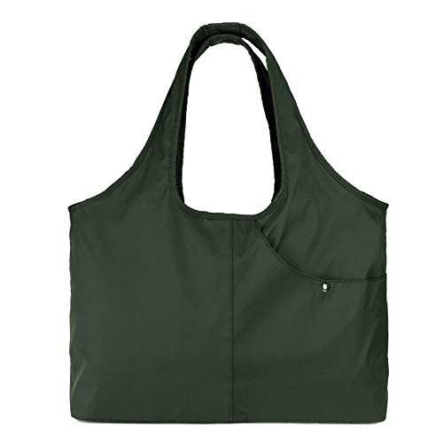 ZOOEASS Women Fashion Large Tote Shoulder Handbag Waterproof Tote Bag Multi-function Nylon Travel Shoulder(Green)