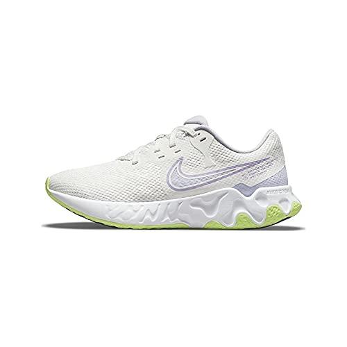 Nike Renew Ride 2, Zapatillas para Correr Mujer, Summit White Lilac Pure Violet Volt Glow, 36.5 EU
