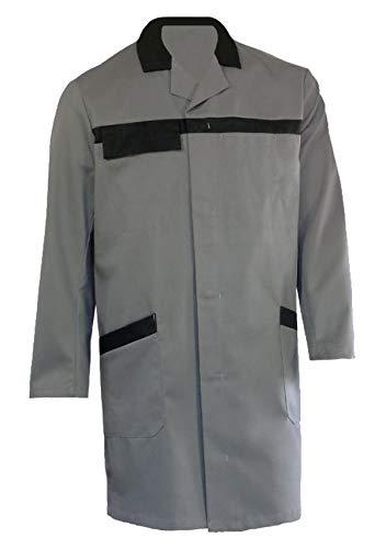 Grevotex Mantel Arbeitsmantel Berufsmantel grau schwarz (48/50S)