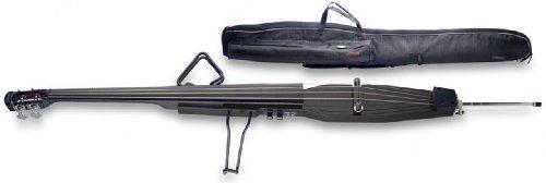 Stagg EDB-3/4 BK Bajo Eléctrico con bolso- Tamaño 3/4, Metallic Black