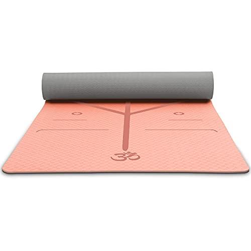 Pkfinrd La Estera de Yoga es elástica Puede Proteger Las articulaciones Anti resbalón Ejercicio Concentrado Materiales ecológicos concentrados No Hay Olor irritante fácil de Limpiar
