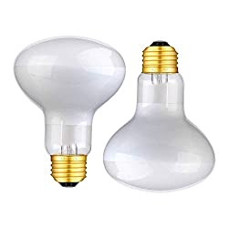 HANJION 2 Pack Reptile Light Bulb 100W Reptile Infrared Basking Spot Lamp of Bearded Dragon Light Bulbs for Reptile & Amphibian
