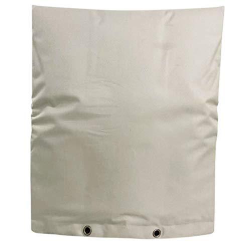 Luccase Weiß Wasserhahn Abdeckungen 40×50cm Polyester Große Wasserleitung Gefrierschutz Wasserhahnabdeckung Wasserhahn Gefrierschutz