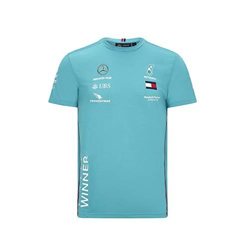 Mercedes-AMG Petronas Fuel for Fans Herren Formel 1 2020 Team Race Winner T-Shirt, Grün, XXL
