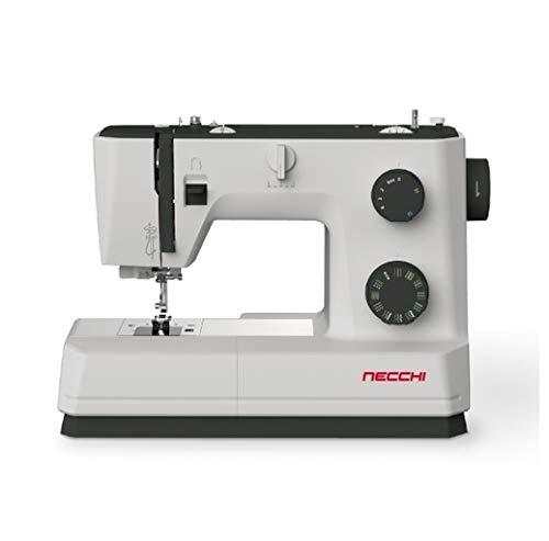 Necchi Q132A - Máquina de coser, interior de aluminio fundido a presión, carcasa de ABS, color negro, regular