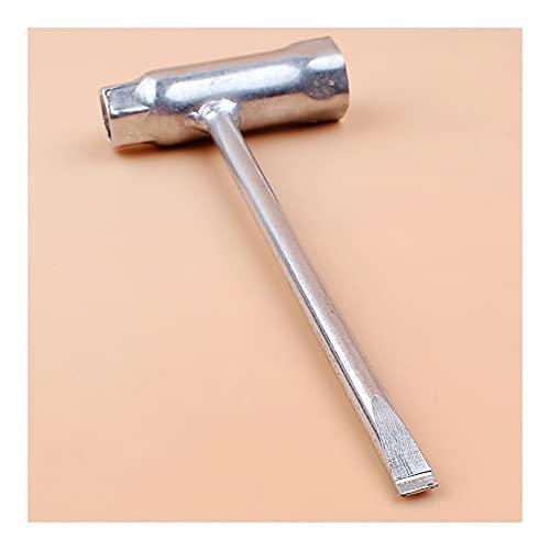 Rendimiento estable Motosierra Bar T llavero llave de llavero 13 mm x 19 mm 13/19 Llave de llave mango Ajustador de motosierra Durable