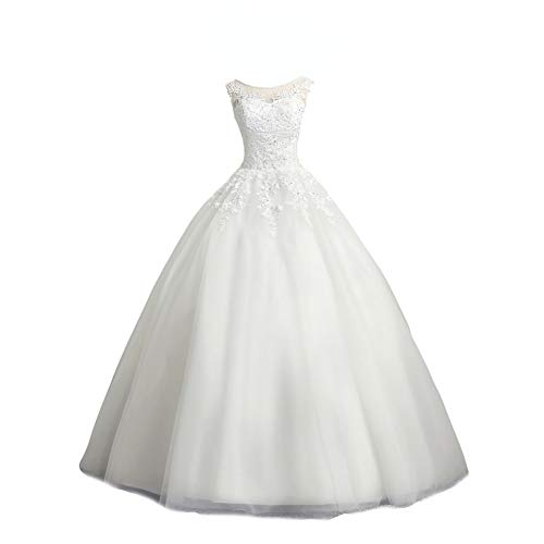LMBRIDAL Scoop Neck Ball Gown