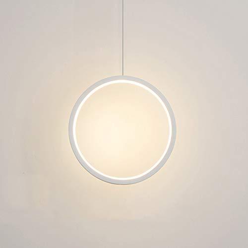 QCLU Anillo Pendiente De La Luz De La Personalidad Creativa Minimalista Dormitorio De Noche LED Luces Pendientes Larga Línea Lámpara Colgante (Color : A)