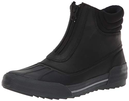 Clarks Women's Gilby Cherry Snow Boot, Black Leather, 085 M US