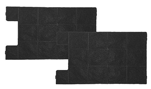Ersatzfilter für Amica KF 17145 - Kohlefilter für Umluftbetrieb - Kassettenkohlefilter für Umluft-Abzugshauben - 2er-Pack