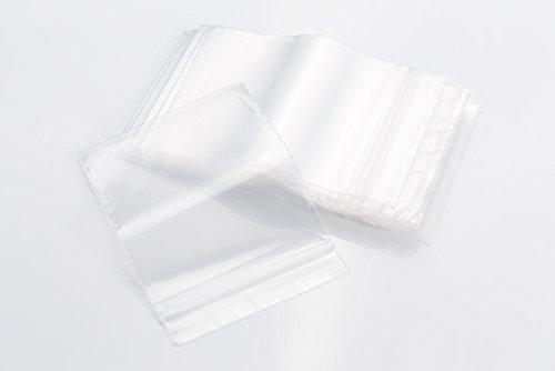 Bolsas transparentes con cierre, 50 micras de grosor, tamaños a elección (100 mm x 150 mm), paquete de 100 unidades