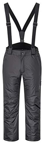 icefeld Herren Skihose/Snowboardhose/Schneehose wasserdicht und Winddicht (XL, Black)