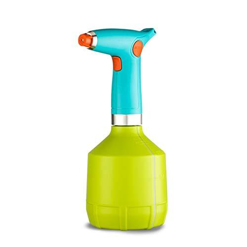 LXLTL Regadera Eléctrica, 500Ml Botella De Spray para Plantas De Interior para Exteriores, Aerosol Eléctrica Boquilla Ajustable para Limpieza del Hogar, Alcohol, Jardinería,Amarillo