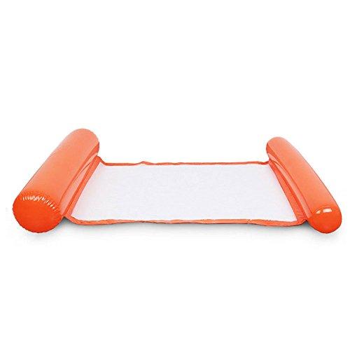 Bolange Klappbares Wasser Liegestuhl Schwimmbett Schwimmender schwebender Stuhl Faltbar Schwimm- und Freizeitschwimmbad