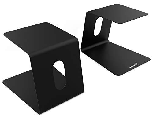 AUDIBAX   Neo STM-50 - Soportes de Mesa para Monitor Estudio y Altavoz (Pareja) - Soporte Monitor Mesa - Diseño Perfecto - Resistentes y Seguros - No Requieren Montaje - 20-24,6cm(ancho) x 23cm(alto)