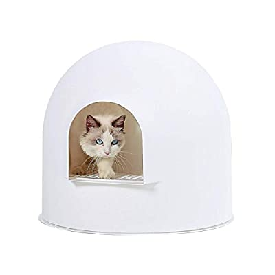 pidan Igloo Cat Litter Box Enclosure with lid, High Dome Covered Litter Box House with Modern Minimalist Design, Winner of The German Red Dot Design Award 2016