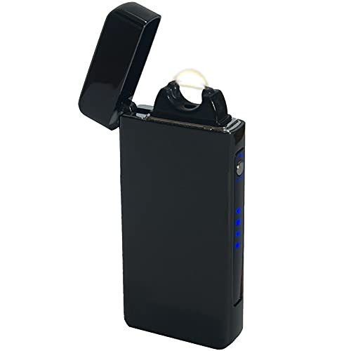 "Big ""Flame Plasma Arc Lighter Game Changer USB Rechargeable Electric Lighter (Black)"