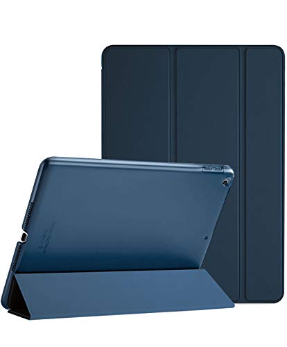 ProHülle Hülle für iPad 9.7 2018 iPad 6 Gen /2017 iPad 5 Gen Schutzhülle Hülle Cover,Dreifach Ultra Dünn Leicht Klapphülle mit Transluzent Rückseite Smart Cover für ipad 9.7 Zoll -Navy blau