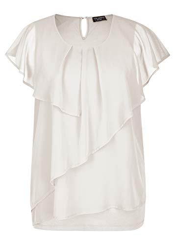 Via Appia Due Damen Elegante Bluse mit Volants