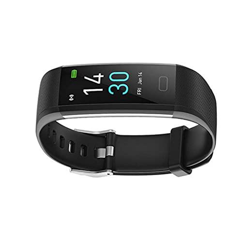 Actividad inteligente reloj pulsera rastreador de ejercicios S5 Temperatura del sueño del ritmo cardíaco impermeable para hombres de las mujeres Negro, elegante reloj de los deportes al aire libre
